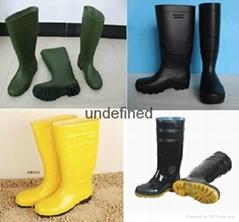 Man PVC Rain boots  PVC safety boots  Rain boots  Safety boots