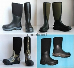 Popular man Neoprene Rain Boots,Neoprene Boot,Hunting rubber boots