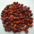 Dried crushed wild rosehip without seeds