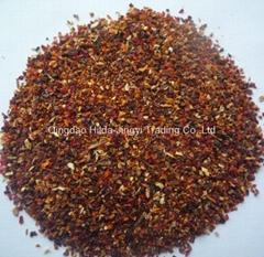 Dried rosehip tea cut