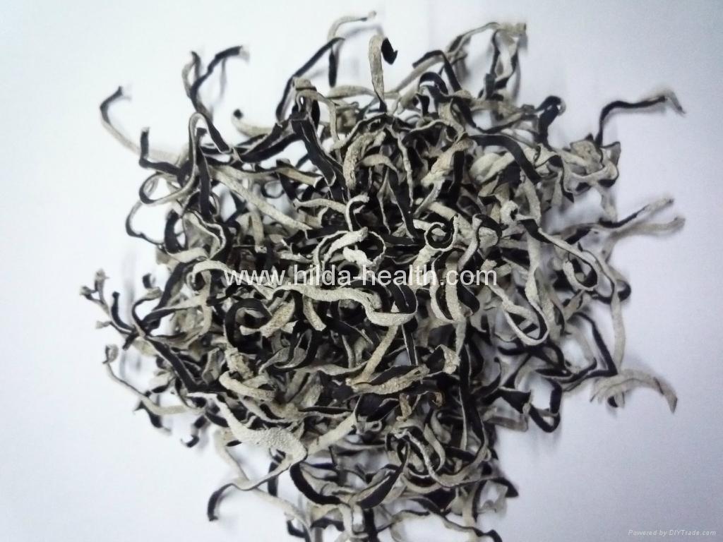Dried white back black fungus sliced  1