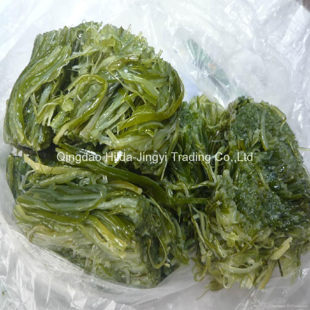 Frozen wakame stem shredded