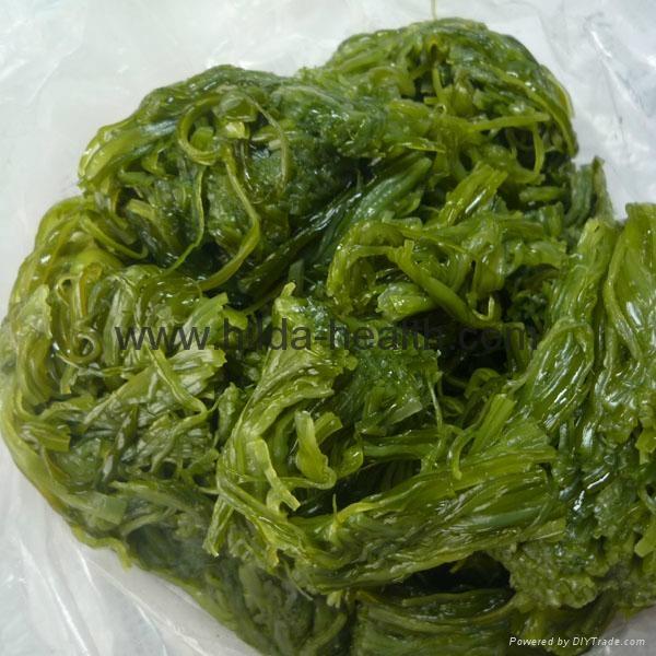 Frozen shredded seaweed wamake stem