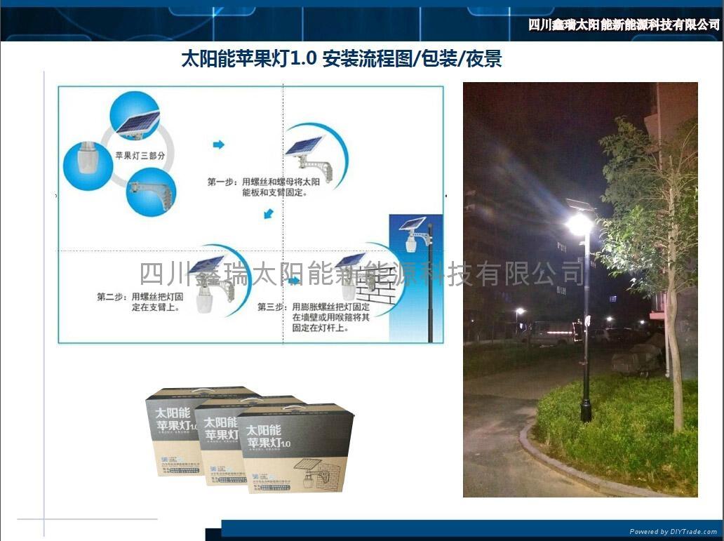 太陽能一體化蘋果燈1.0 5
