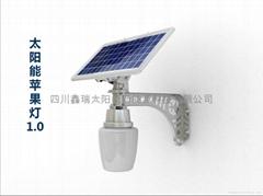 太陽能一體化蘋果燈1.0