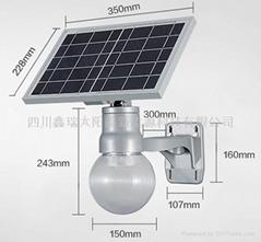 太陽能一體化球形罩路燈