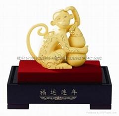 金猴如意绒沙金猴年礼品