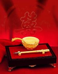 电铸绒沙金纪念品铸铜工艺品