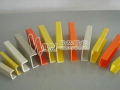 玻璃纖維槽鋼高強度玻璃鋼拉擠型材