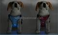 Night Safety Nylon Flashing Light Up Adjustable Pet LED Dog Harness 2