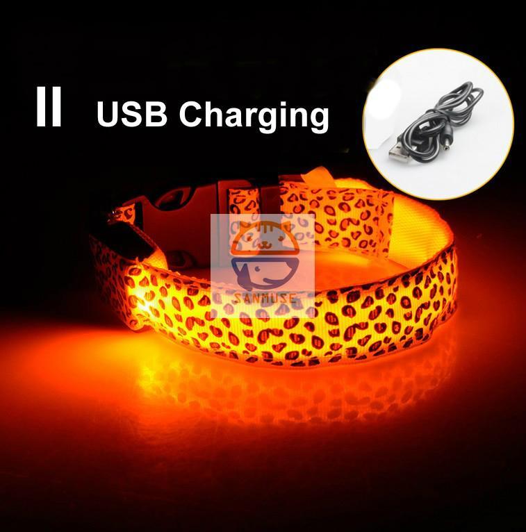Night Safety Warning Light LED Dog Collar-Usb Charging 1