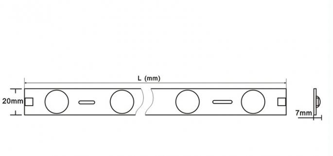 concentrated lens higher illuminance led backlight module - wf-lydt l 17