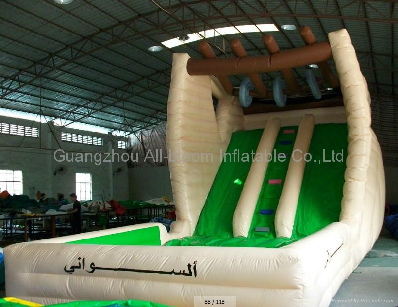 inflatable water slide with pool 4