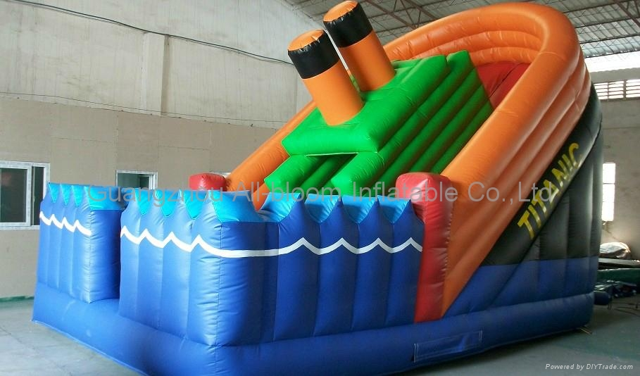 inflatable water slide with pool 5