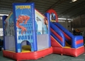 inflatable spider-man bouncy house
