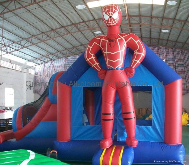 inflatable spider-man bouncy house 3