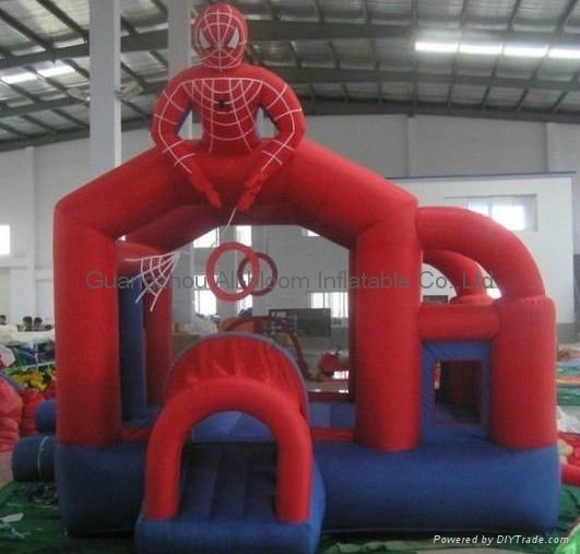 inflatable spider-man bouncy house 5