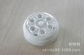 6 LED Wireless Infrared PIR Auto Sensor Motion Detector Battery  3