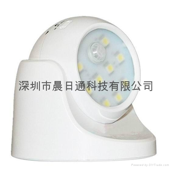 360 Degree Rotating LED Human Body Infrared Motion Sensor Night Light 3