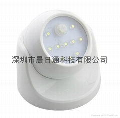 360 Degree Rotating LED Human Body Infrared Motion Sensor Night Light