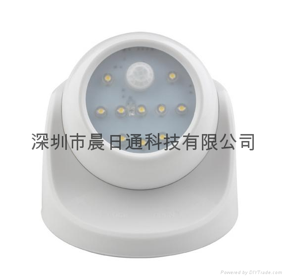 360 Degree Rotating LED Human Body Infrared Motion Sensor Night Light 2