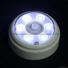 6 LED Wireless Infrared PIR Auto Sensor Motion Detector Battery