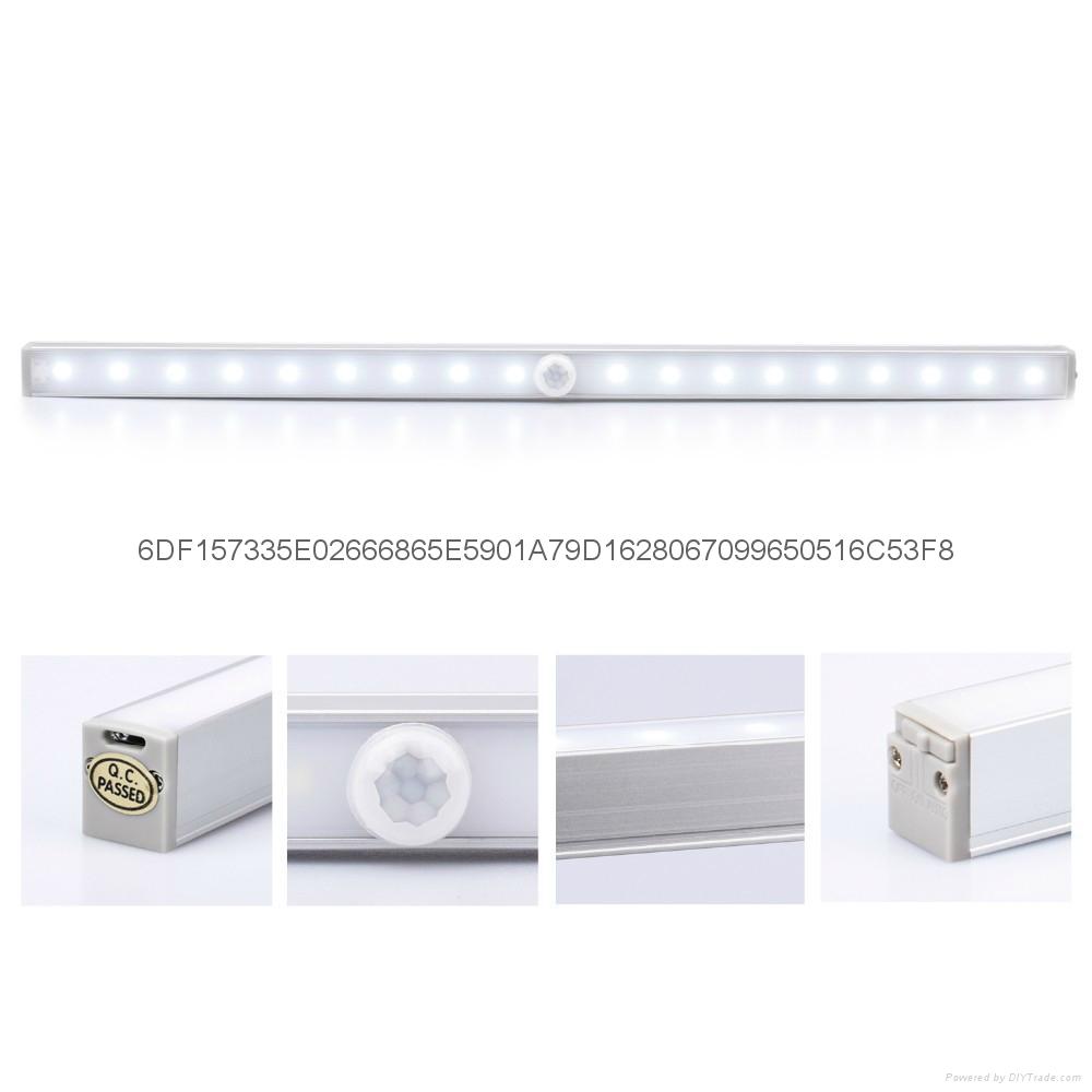 20-LED长条铝合金人体感应橱柜灯衣柜感应灯 2