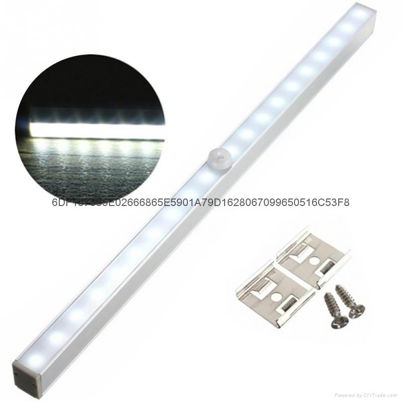 20-LED长条铝合金人体感应橱柜灯衣柜感应灯 1