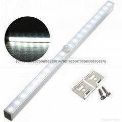 20-LED长条铝合金人体感应橱柜灯衣柜感应灯