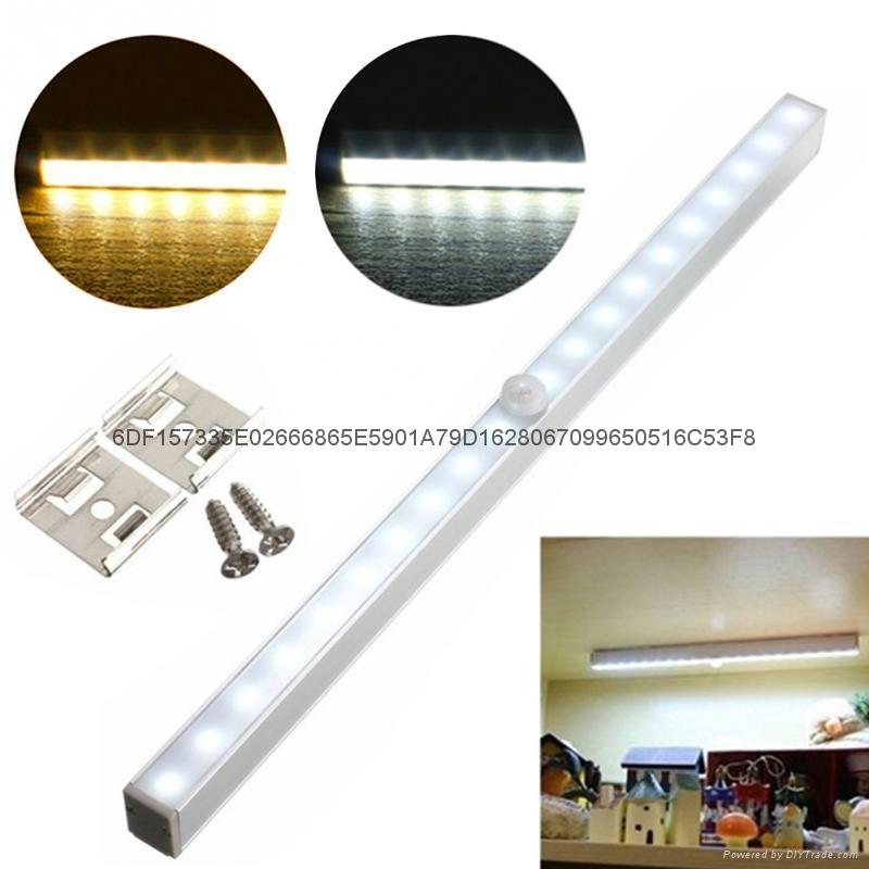 20-LED长条铝合金人体感应橱柜灯衣柜感应灯 4