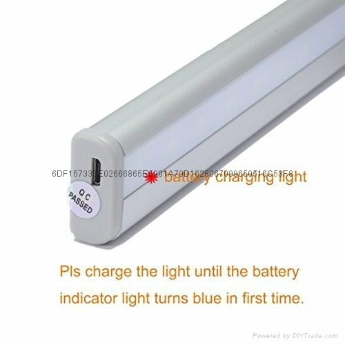 USB 20 LED Rechargeable Automatic Under Cabinet Light PIR Motion Sensor Lamp 3