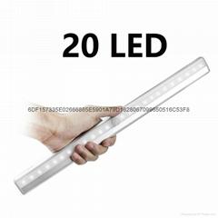 36CM長條充電LED人體感應燈衣櫃燈櫥櫃 USB充電款紅外感應燈