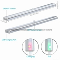 USB 20 LED Rechargeable Automatic Under Cabinet Light PIR Motion Sensor Lamp 4