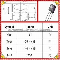 台湾亿光原装正品38KHZ贴片插件式红外线接收头IRM-56384