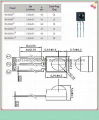 台湾亿光原装正品38KHZ插件贴片式红外线接收头IRM-3638T