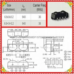 台湾亿光原装正品插件贴片式38KHZ红外线接收头IRM-H838