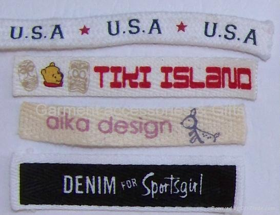 Printed label-care label-brand label 3