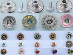 Metal jean button