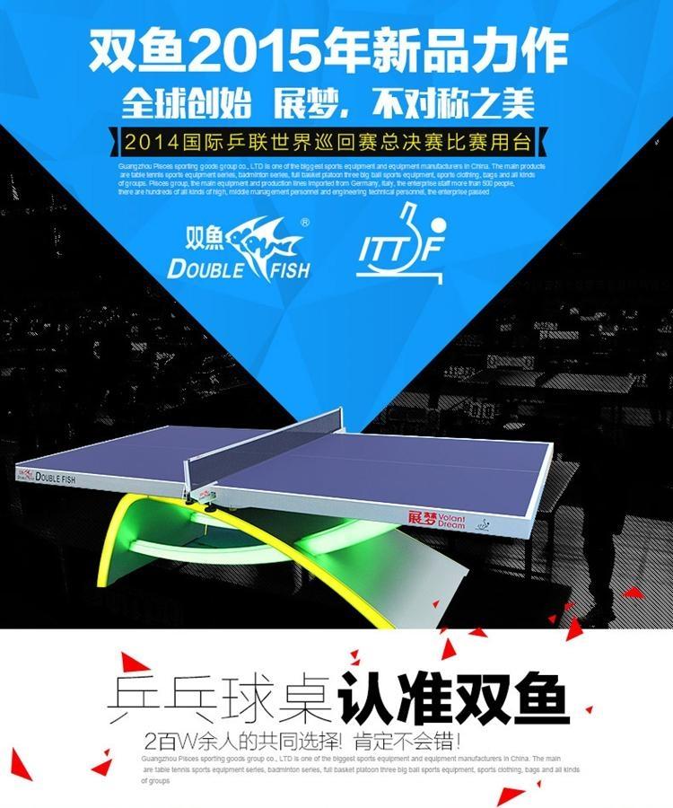 雙魚牌移動式乒乓球台 3