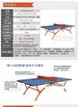 雙魚牌移動式乒乓球台 2
