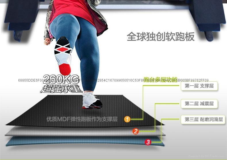 豪华智能软跑板跑步机 5