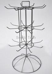 Metal hooks countertop display rack