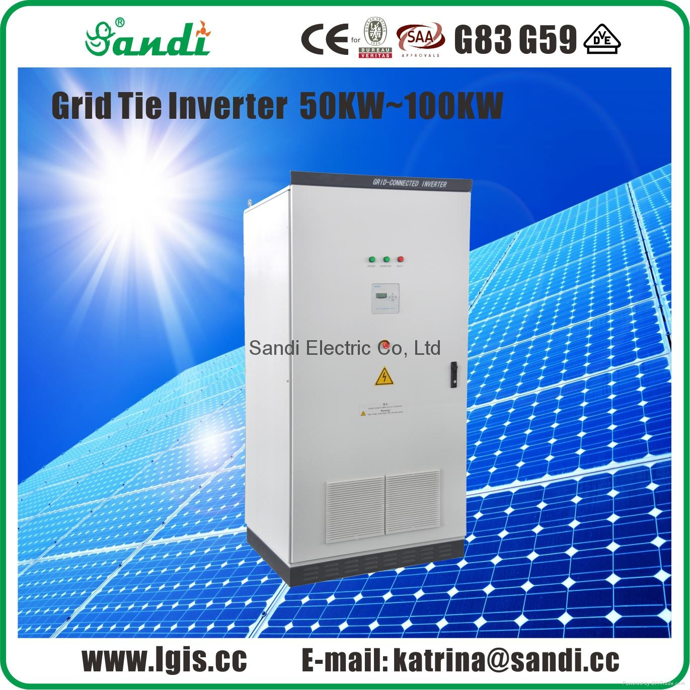 50KW Solar Grid-tied Inverter with Isolation Transformer