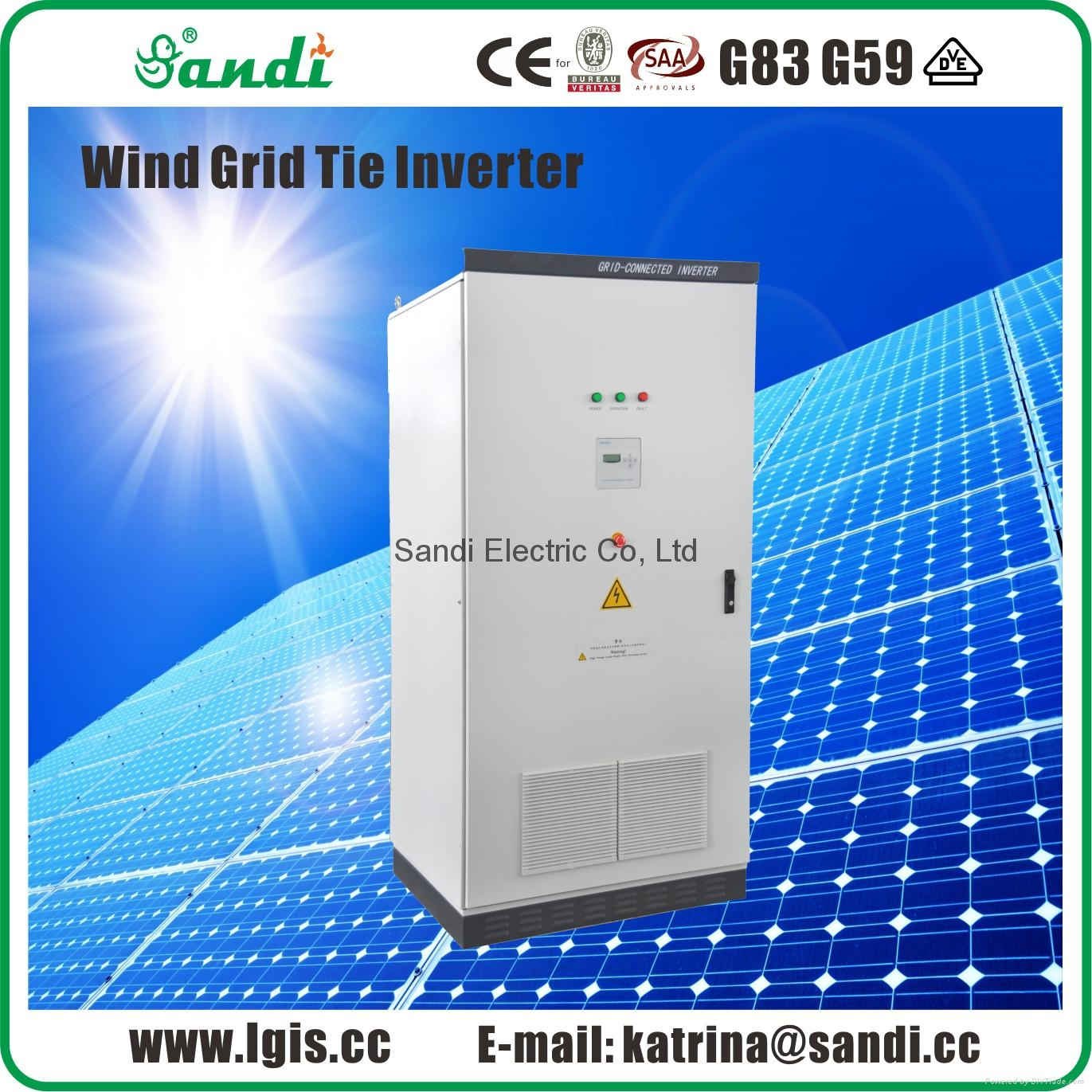 50KW DC To AC Wind Turbine Grid Connected Inverter