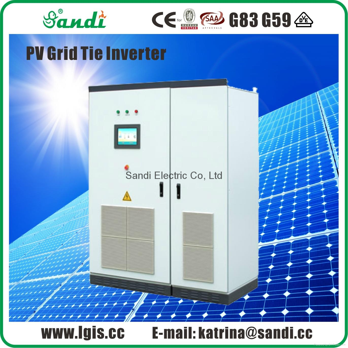 500kW 3 phase on grid tie solar power inverter for power plant