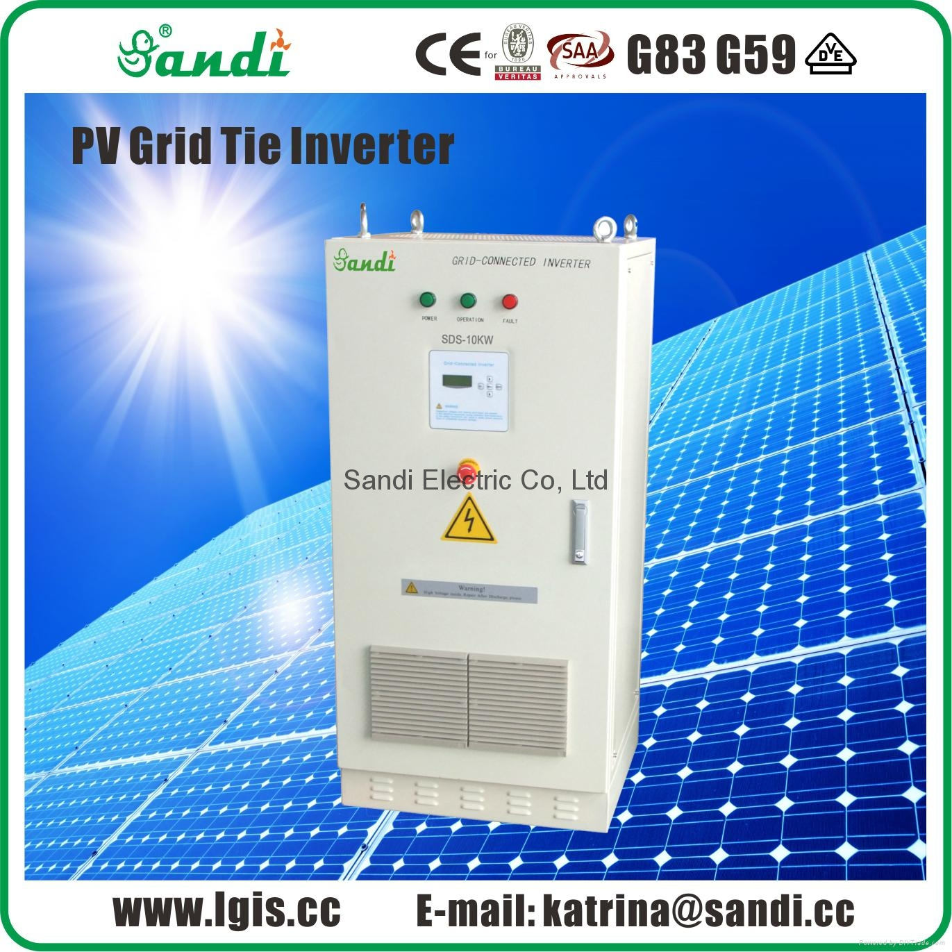 10KW Thin-film module special grid-tied inverter  1