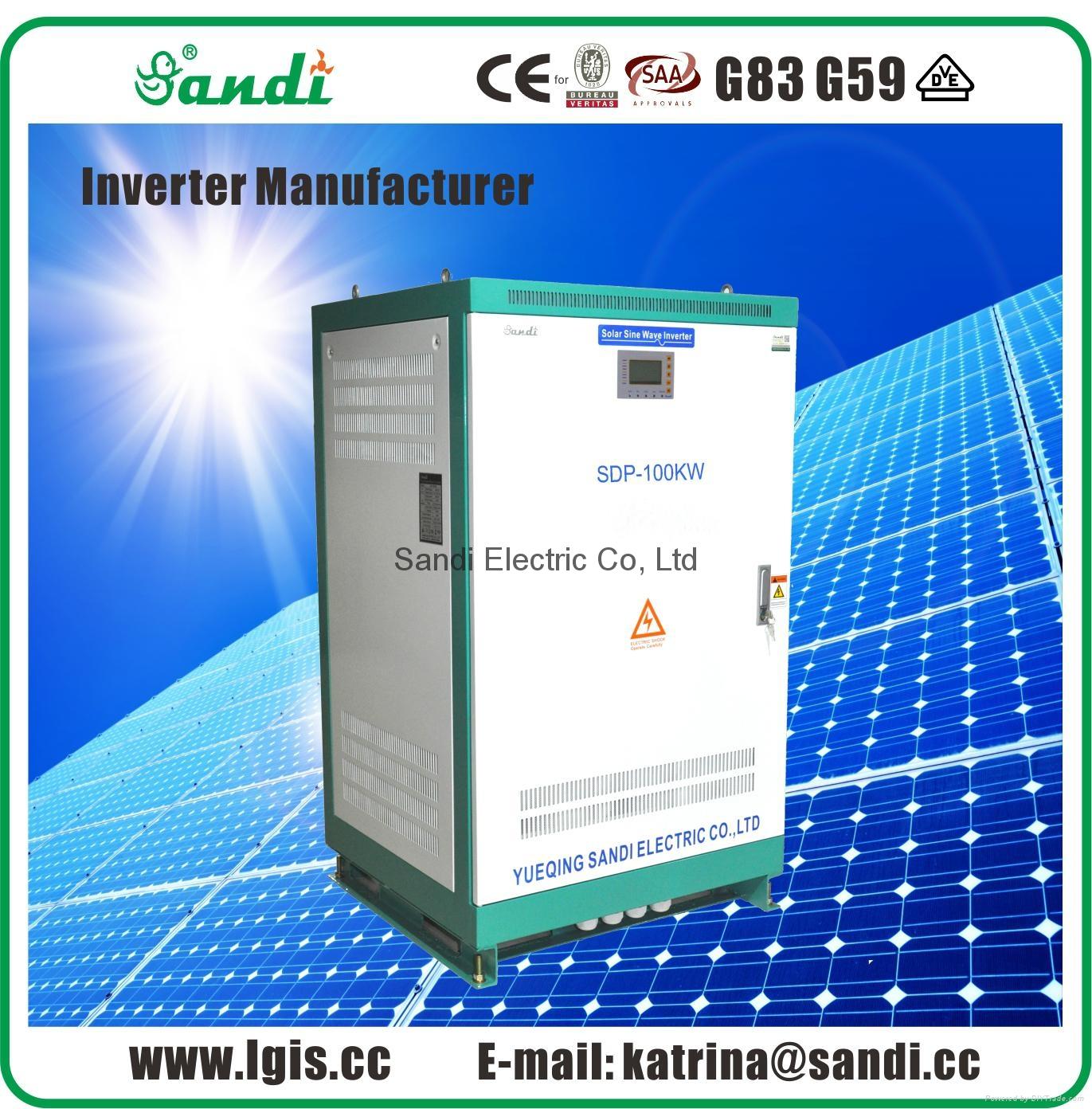 100KW/150KW off grid inverter DC to AC Inverter 6