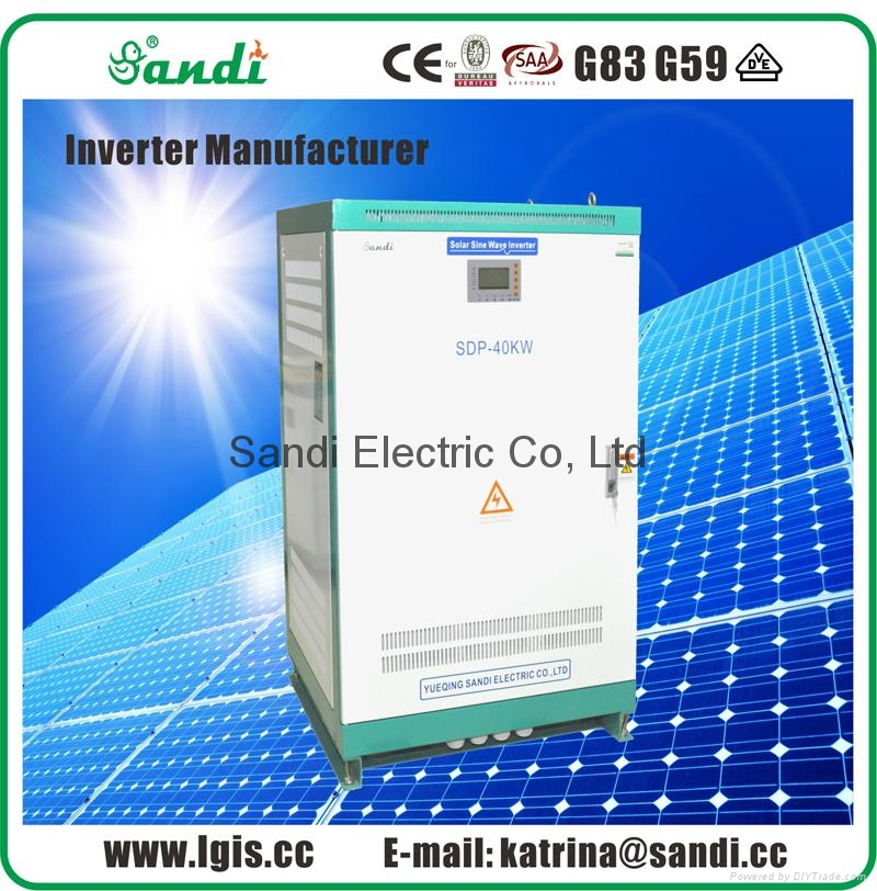 40KW Pure Sine Wave Solar Inverter with isolation transformer