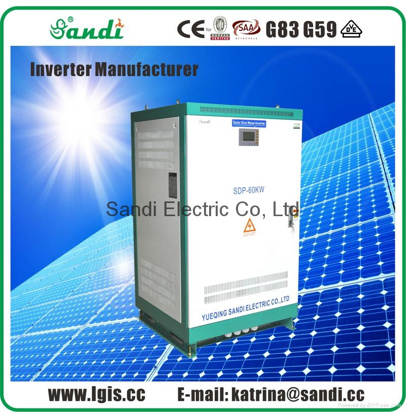 60KW Solar Sine Wave Inverter with Intelligentized design easy to maintenance