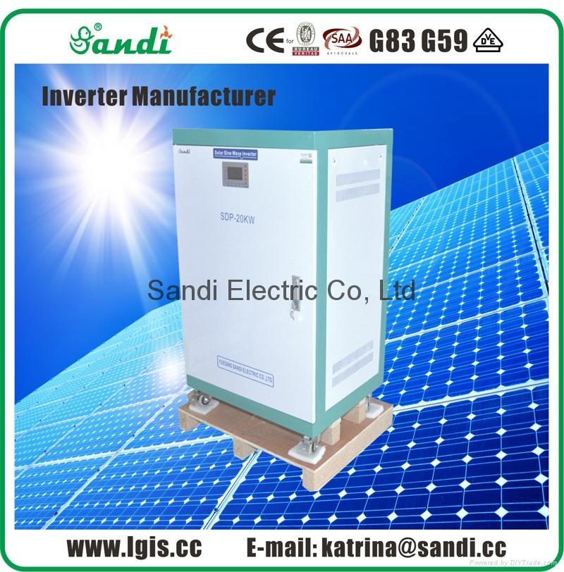 Single phase 20kw power inverter support solar power & main power input